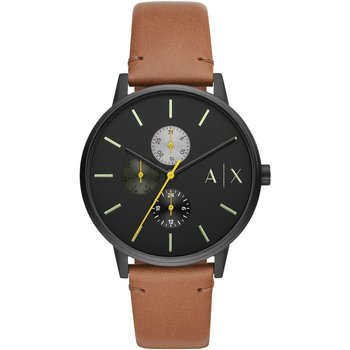 ARMANI EXCHANGE Cayde Brown Leather Strap