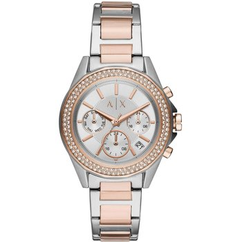 ARMANI EXCHANGE Drexler Crystals Chronograph Two Tone Stainless Steel Bracelet