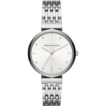 ARMANI EXCHANGE Zoe Crystals Silver Stainless Steel Bracelet