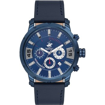 BEVERLY HILLS POLO CLUB Chronograph Blue Leather Strap
