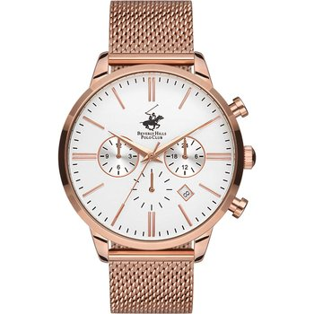 BEVERLY HILLS POLO CLUB Chronograph Rose Gold Stainless Steel Bracelet