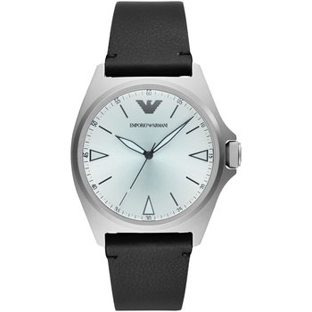 Emporio ARΜΑΝΙ Nicola Black Leather Strap