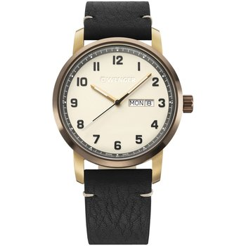 WENGER Attitude Black Leather Strap