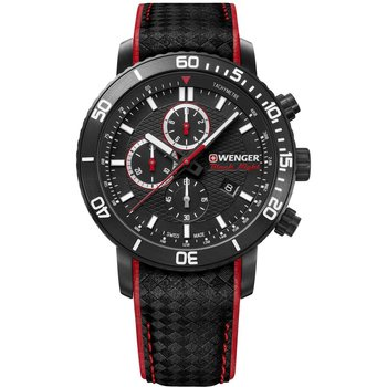 WENGER Roadster Chronograph Black Leather Strap