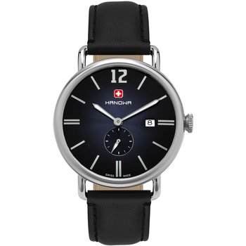 HANOWA Victor Black Leather Strap