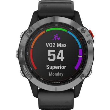 GARMIN Fenix 6 Solar Silver with Black Band