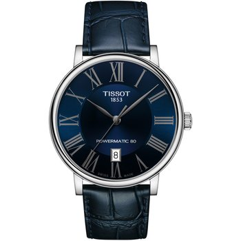 TISSOT Carson Automatic Blue Leather Strap