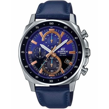 CASIO Edifice Chronograph Blue Leather Strap