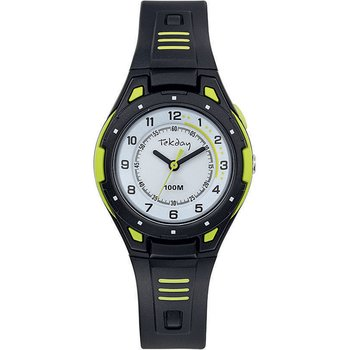 TEKDAY Men Black Plastic Strap