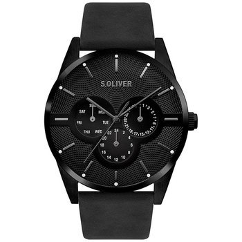 s.Oliver Gents Black Leather