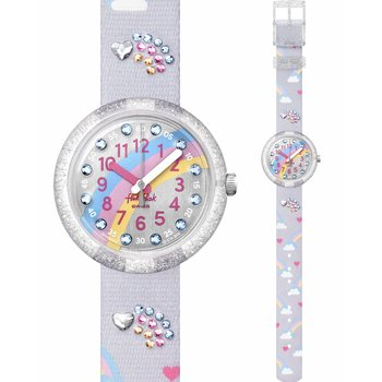 FLIK FLAK Over The Rainbow Crystals Multicolor Fabric Strap