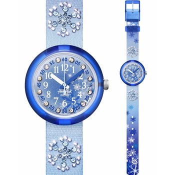 FLIK FLAK Frozilicious Crystals Blue Fabric Strap