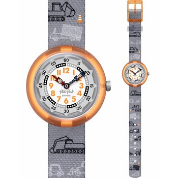 FLIK FLAK City of Life Dig It Grey Fabric Strap