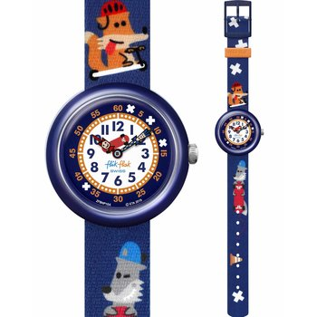 FLIK FLAK City of Life Sk8Fox Multicolor Fabric Strap