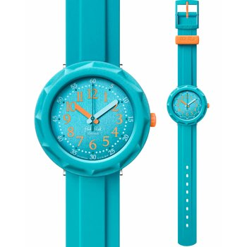 FLIK FLAK City of Life Acqualicious Light Blue Plastic Strap
