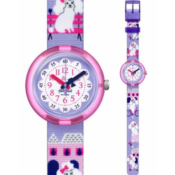 FLIK FLAK City of Life Miss Poodle Multicolor Fabric Strap
