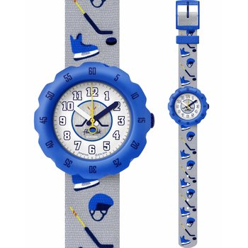 FLIK FLAK City of Life Puck It Grey Fabric Strap