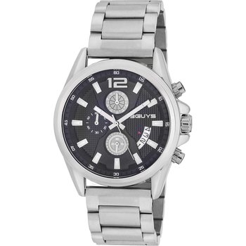3GUYS Gents Chronograph Silver Stainless Steel Bracelet