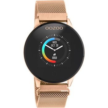 OOZOO Timepieces Chronograph Rose Gold Stainless Steel Bracelet