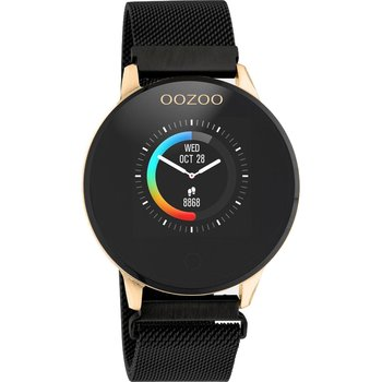 OOZOO Timepieces Chronograph Black Stainless Steel Bracelet