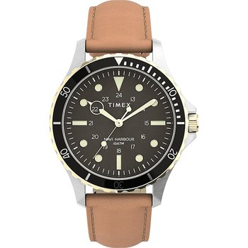 TIMEX Navi XL Brown Leather