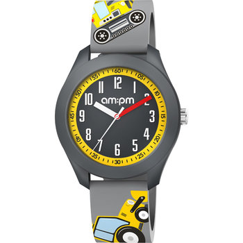 AM:PM Kids Grey Silicone Strap