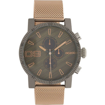 OOZOO Timepieces Chronograph Rose Gold Metallic Bracelet