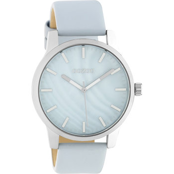 OOZOO Timepieces Light Blue Leather Strap