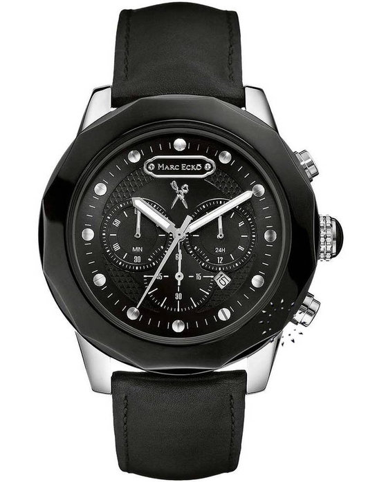 Marc Ecko The Venom Black Leather Strap