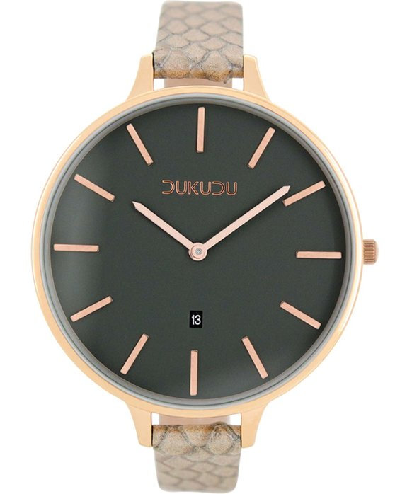 DUKUDU Gaby Brown Leather Strap