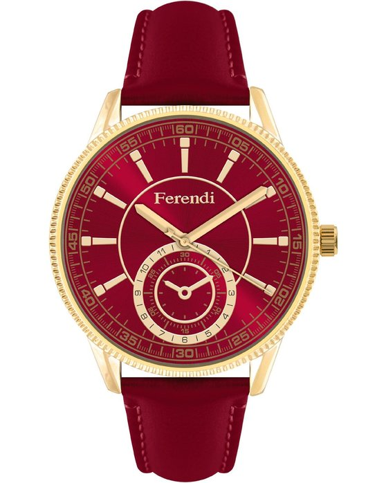 FERENDI Mystique Red Leather Strap