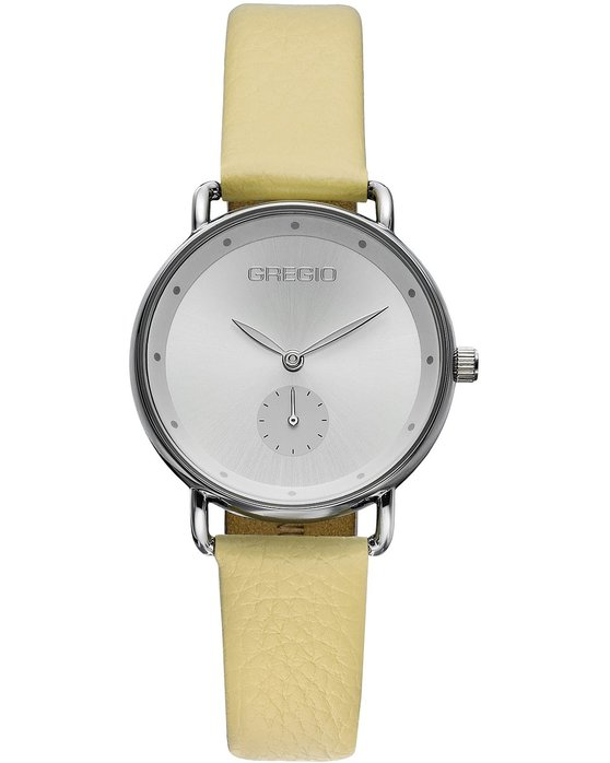 GREGIO Chrystie Yellow Leather Strap