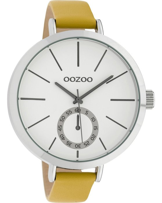 OOZOO Timepieces Yellow Leather Strap