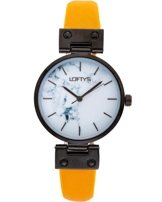 LOFTY'S Kelly Yellow Leather Strap