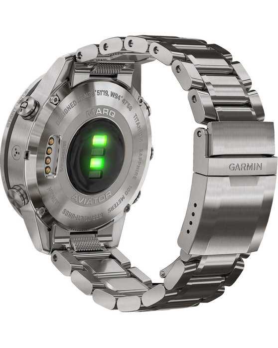 GARMIN MARQ Aviator Edition with Silver Titanium Bracelet