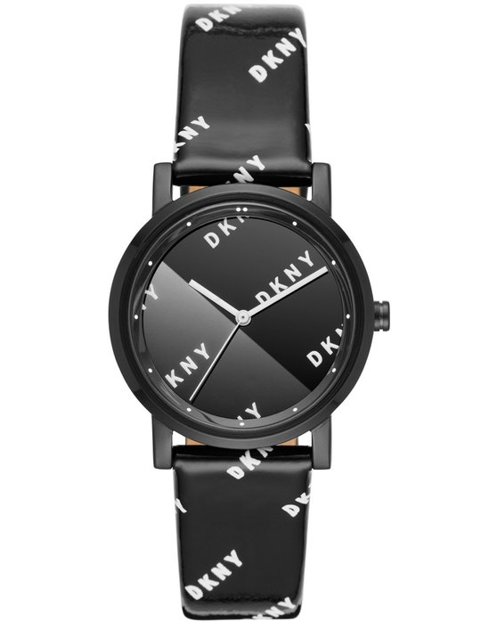 DKNY Soho Black Leather Strap