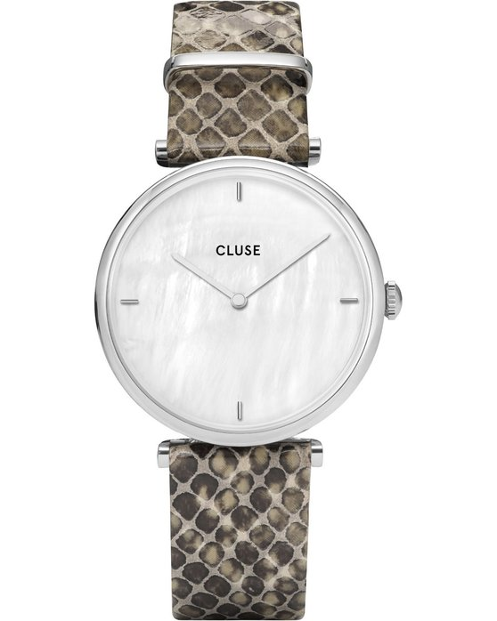 CLUSE Triomphe Animal Print Leather Strap