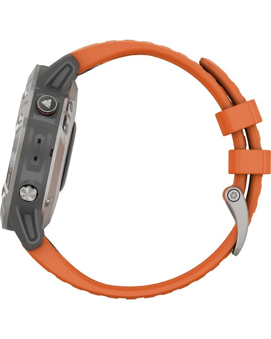 GARMIN Fenix 6 Sapphire Titanium with Ember Orange Band