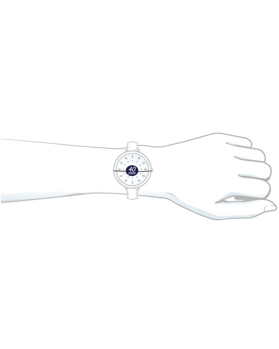 WENGER Metropolitan Donnissima Crystals White Leather Strap