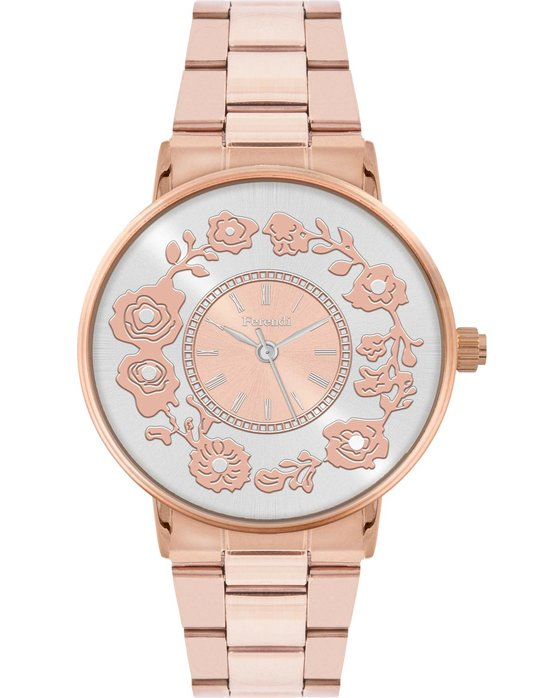 FERENDI Flare Rose Gold Stainless Steel Bracelet