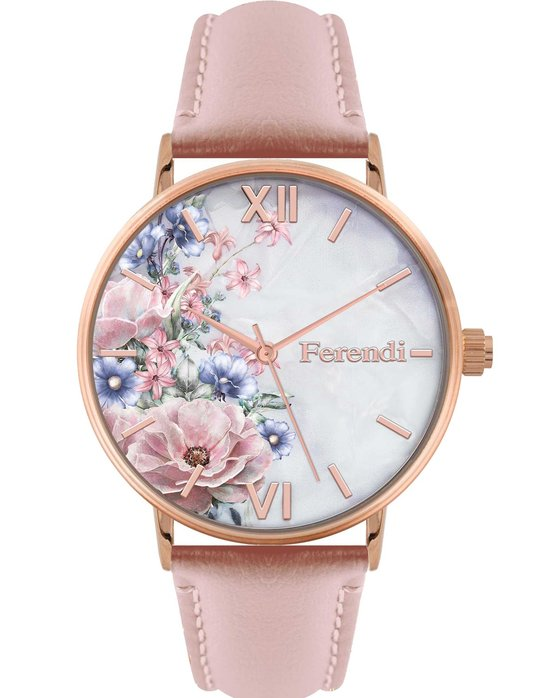 FERENDI Rodoessa Pink Leather Strap