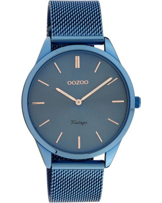 OOZOO Vintage Colored Mesh Blue Metallic Bracelet