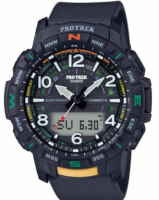 CASIO Protrek Chronograph Black Rubber Strap