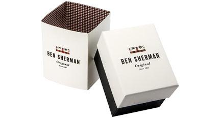 BEN SHERMAN Portobello Social Grey Leather Strap
