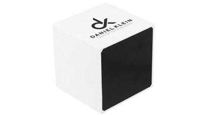 DANIEL KLEIN Ladies Crystals Blue Leather Strap