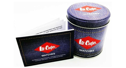 LEE COOPER Dual Time Green Combined Materials Strap