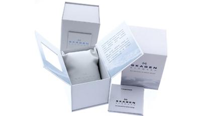 SKAGEN Signatur T-Bar Hybrid Blue Leather Strap