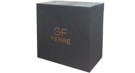 Ρολόι GF FERRE Ladies Black Leather Strap - GFRG6062 - OROLOI.gr f49c9eaadc4