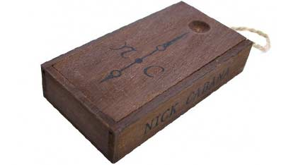 NICK CABANA Nilaya Gun Black Leather Strap