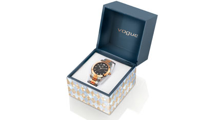VOGUE Scarlet Rose Gold Stainless Steel Bracelet